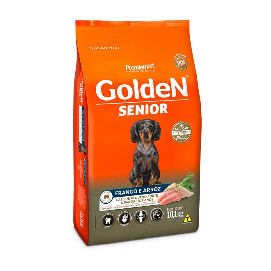Ração Golden Fórmula Cães Sênior Mini Bits Frango e Arroz 10kg