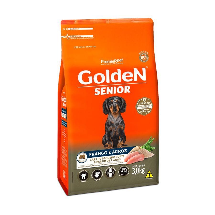 Ração Golden Fórmula Cães Sênior Mini Bits Frango e Arroz 3kg