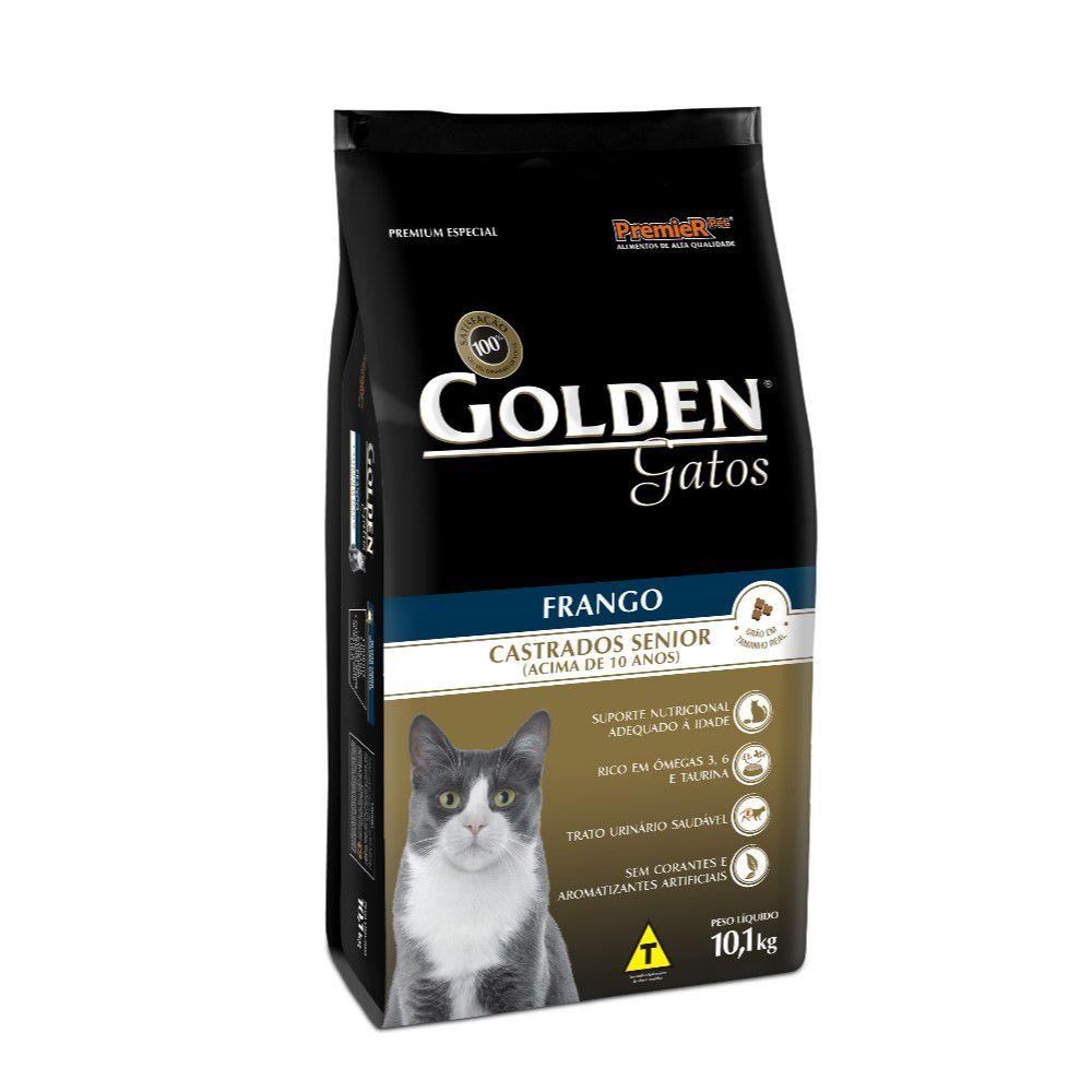 Ração Golden Gatos Castrados Senior Frango 10,1kg