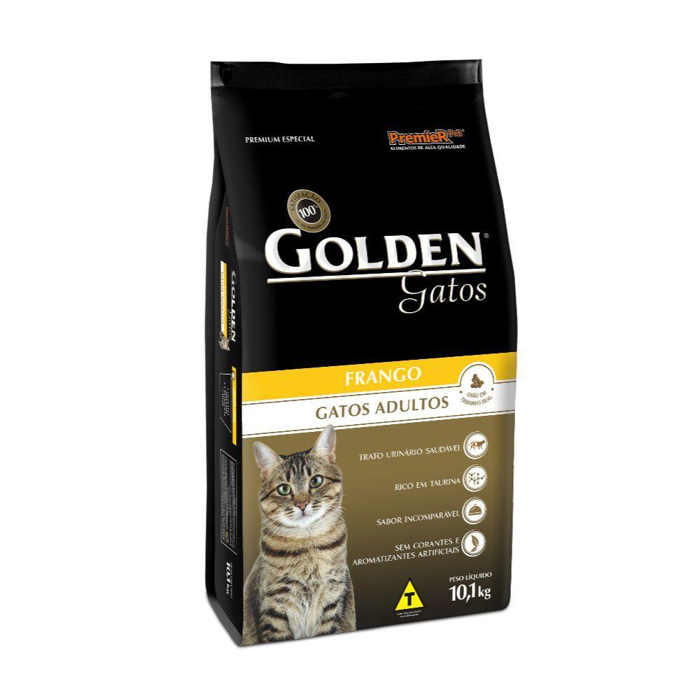 Ração Golden para Gatos Adultos sabor Frango 10kg