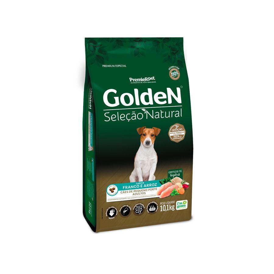 Ração Golden Seleção Natural para Cães Adultos de Raças Pequenas Mini Bits 10kg