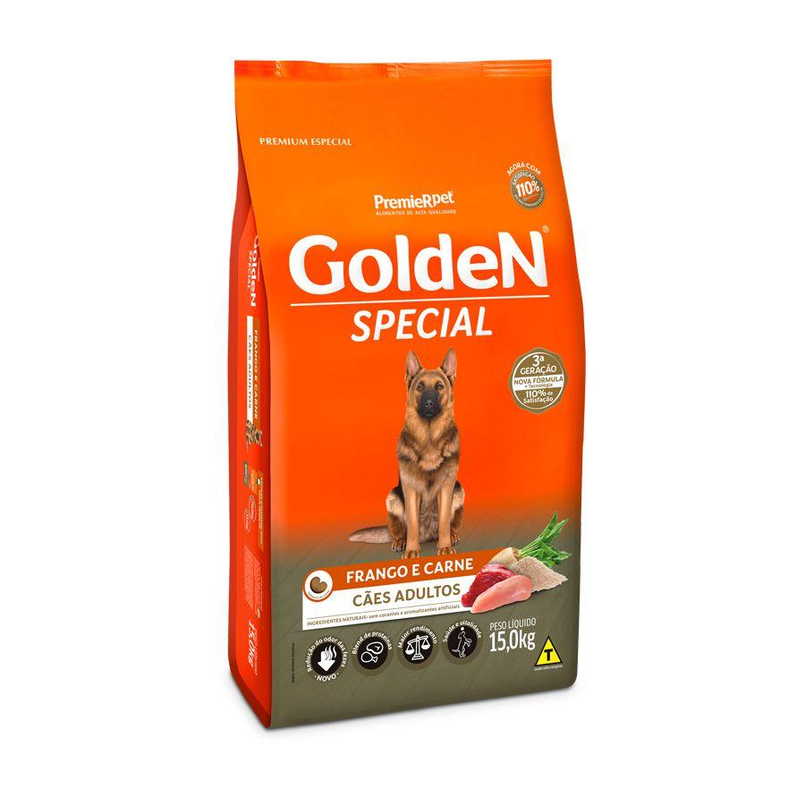 Ração Golden Special Adultos sabor Frango e Carne 15kg