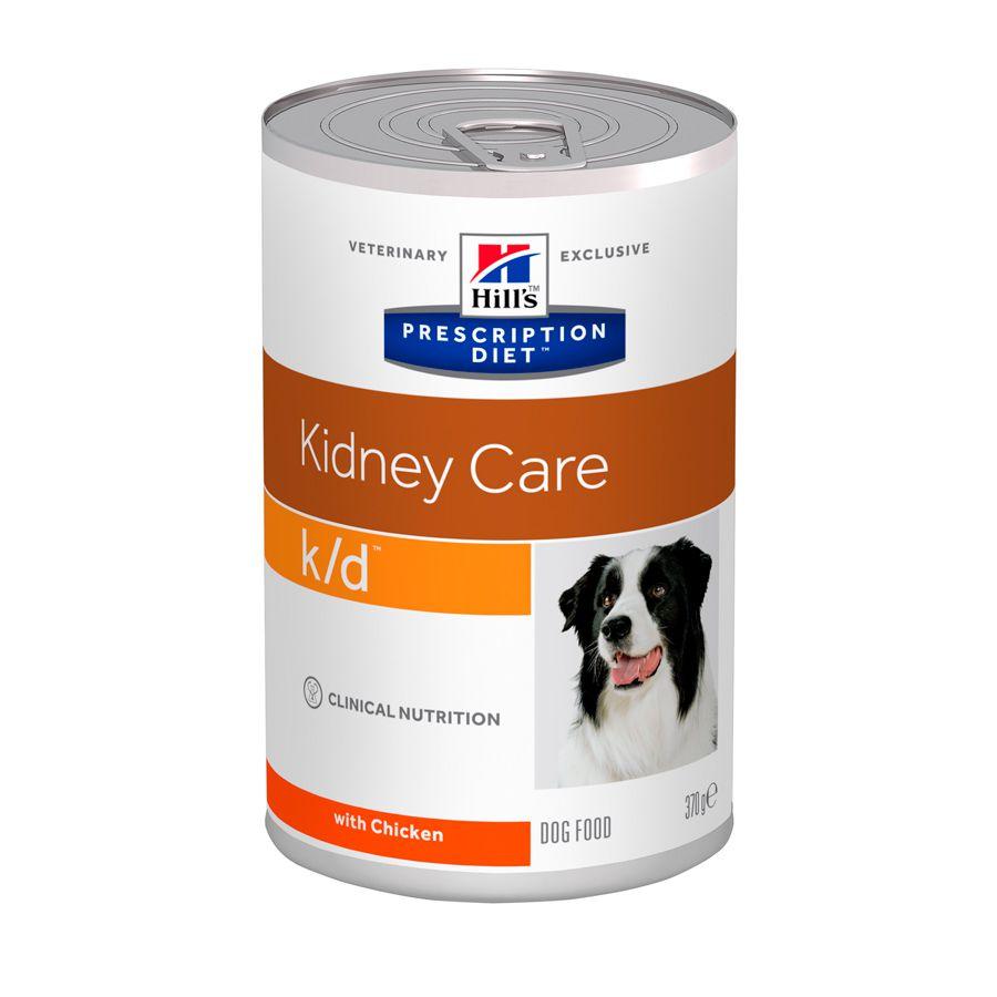 Ração Hills Prescription Diet K/D Cuidado Renal para Cães Adultos Com Doença Renal - 370g
