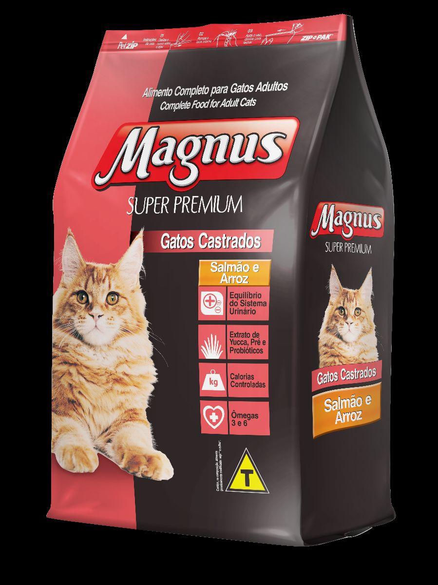 Ração Magnus Premium especial sabor Salmão para Gatos Castrados 1kg