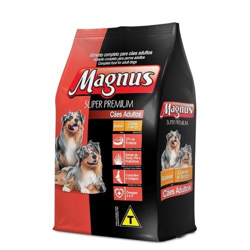 Ração Magnus Super Premium para Cães Adultos sabor Carne e Arroz 15kg