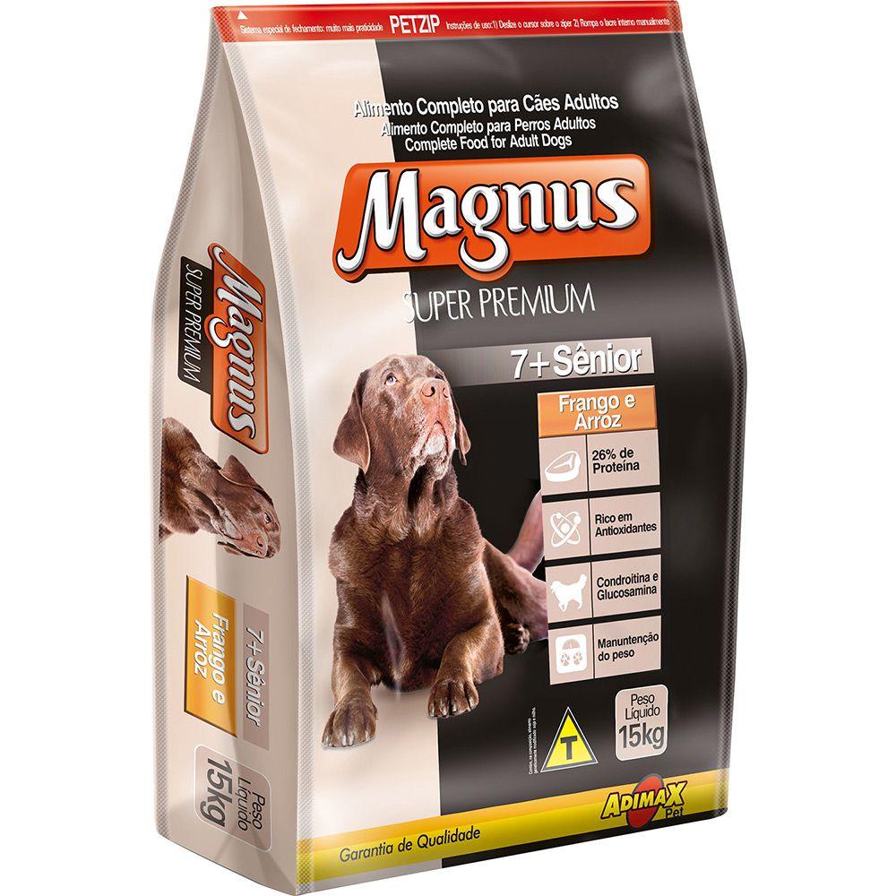 Ração Magnus Super Premium para Cão Sênior Frango e Arroz 15kg