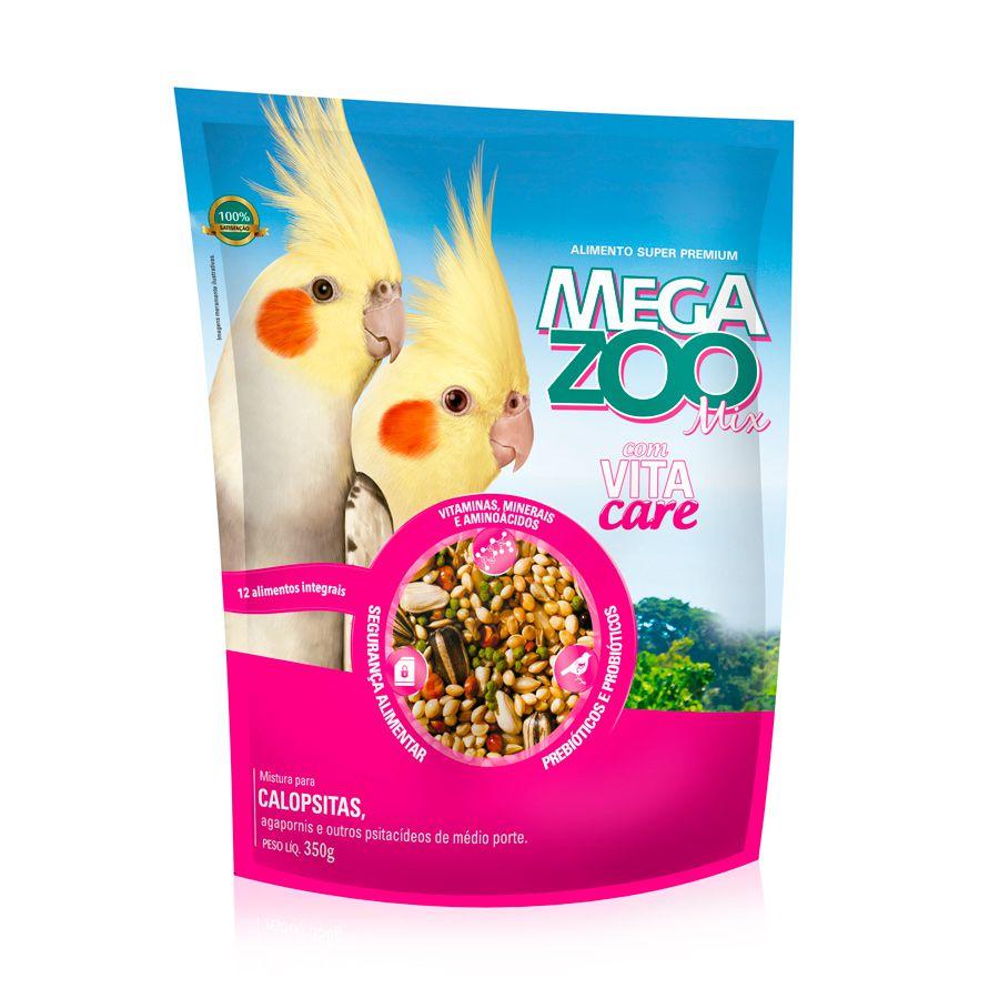 Ração Megazoo Mix para Agapornis e Calopsitas 350g