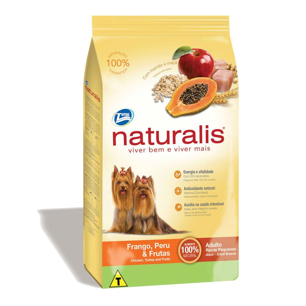 Ração Naturalis Frango Peru e Frutas para Cães Adultos Raças Pequenas 15kg