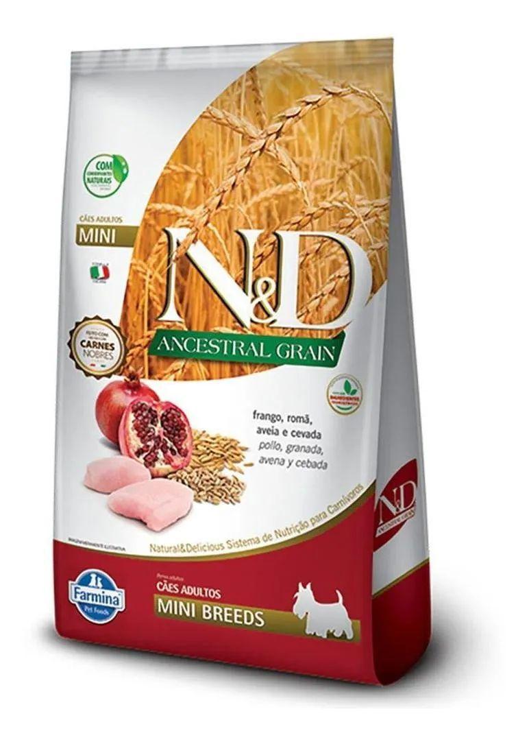 Ração N&D Ancestral Grain para Cães Adultos Mini sabor Frango