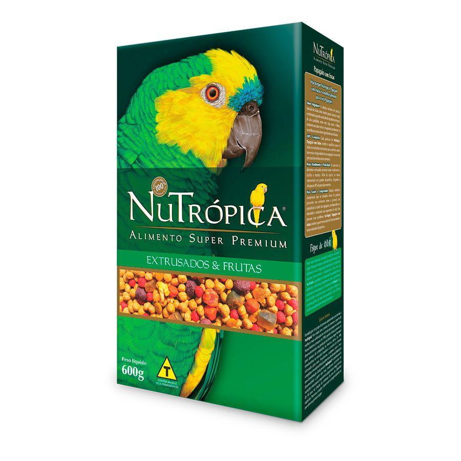 Ração Nutrópica para Papagaio sabor Frutas 600g