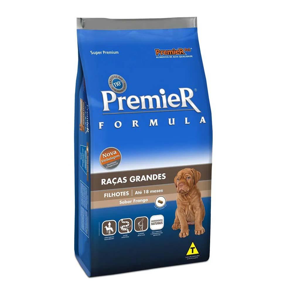 Premier Cães Filhotes Raças Grandes sabor Frango 15kg