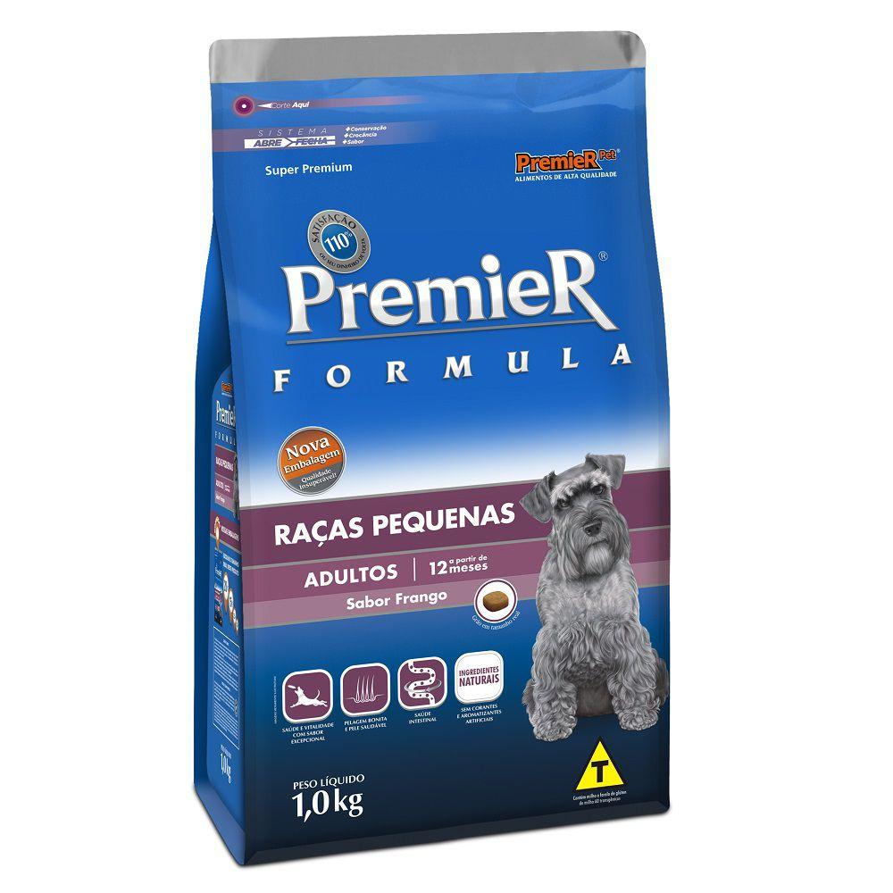 Ração Premier Cães Formula Raças Pequenas Adultos Sabor Frango 1kg