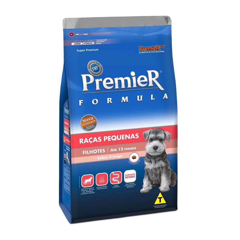 Premier Cães Filhotes Raças Pequenas sabor Frango 1kg