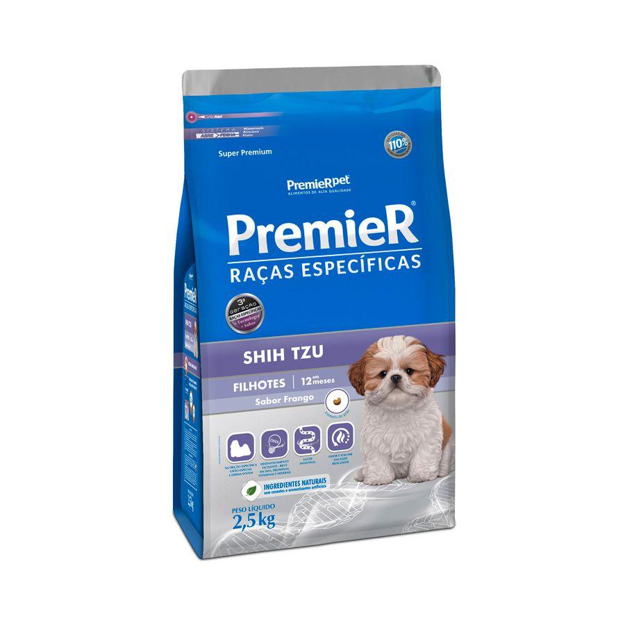 Ração Premier Cães Raças específicas Shih Tzu Filhotes Sabor Frango 2,5kg
