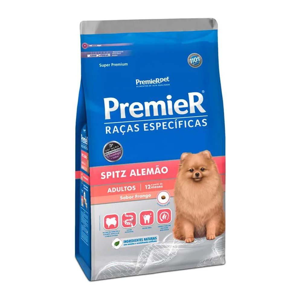 Ração Premier Cães Raças específicas Spitz Alemão Adultos Sabor Frango 2,5kg
