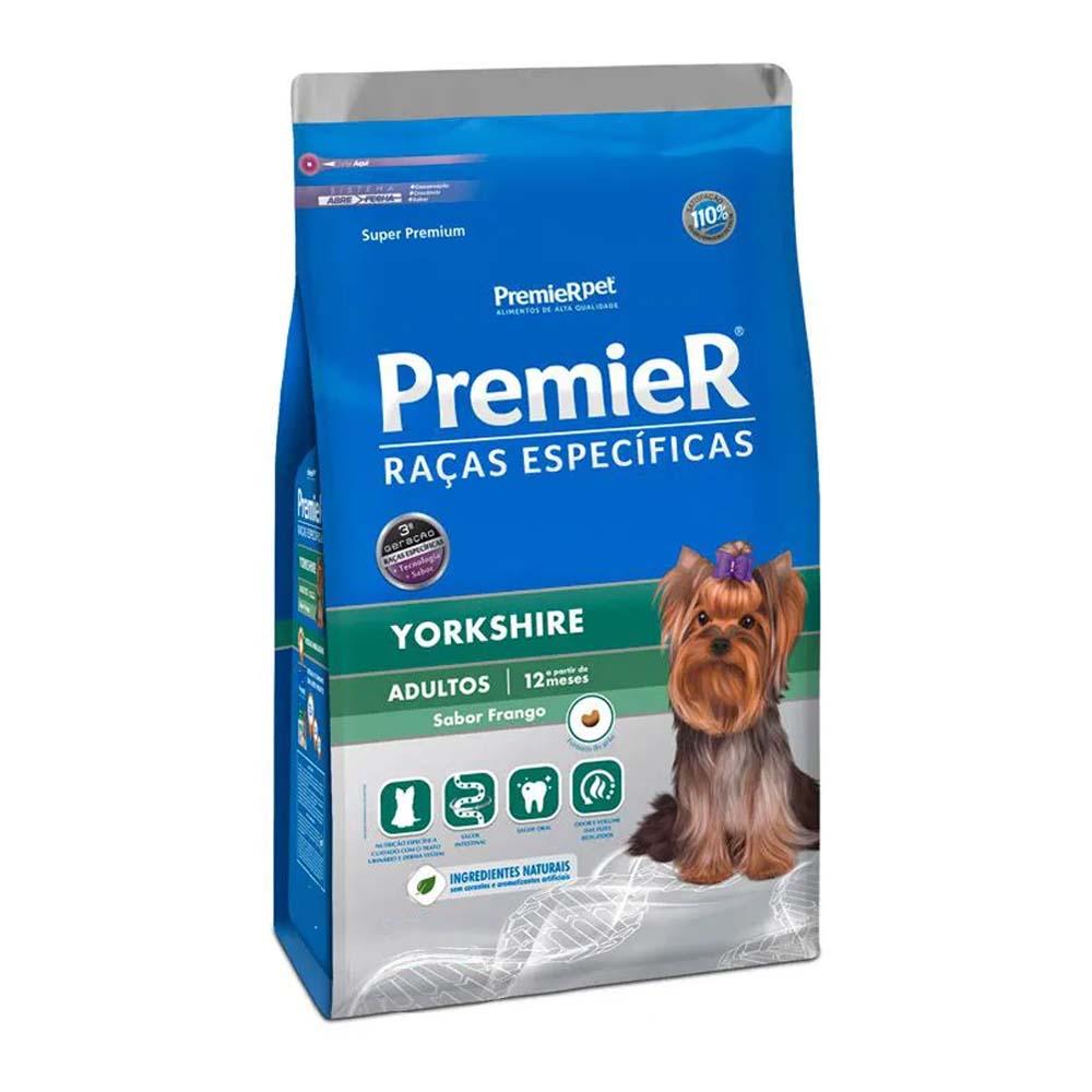 Ração Premier Cães Raças específicas Yorkshire Adultos Sabor Frango 1kg