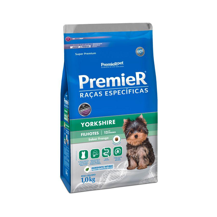 Ração Premier Cães Raças específicas Yorkshire Filhotes Sabor Frango 1kg