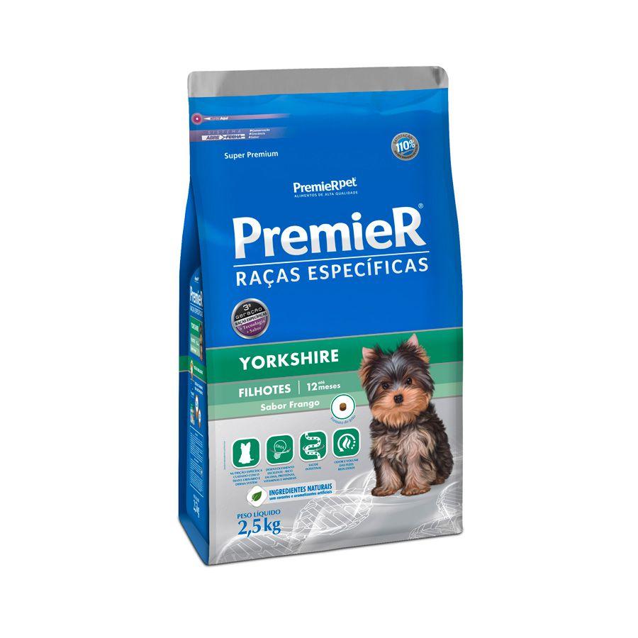 Ração Premier Cães Raças específicas Yorkshire Filhotes Sabor Frango 2,5kg
