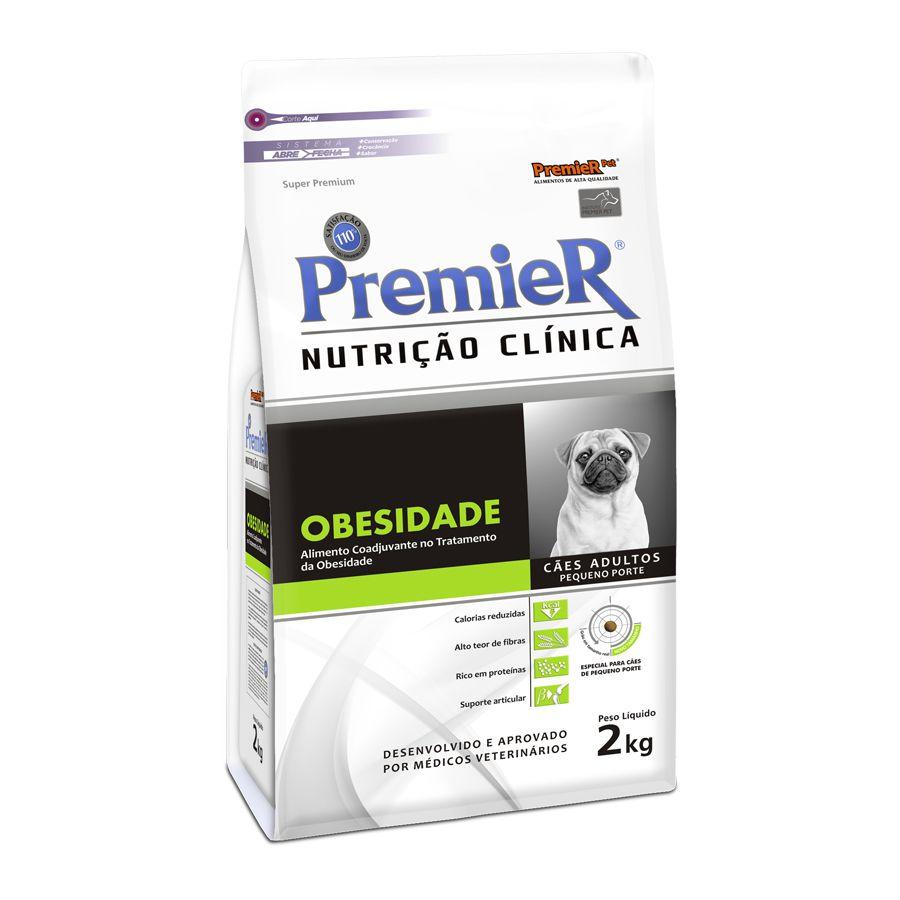 Ração Premier Nutrição Clínica Obesidade Cães Pequeno Porte 2kg
