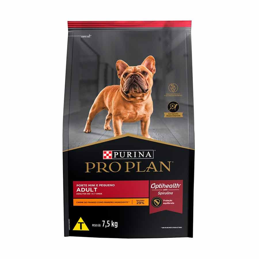 Ração Pro Plan Nestlé Purina para Cães Adultos Raças Pequenas sabor Frango e Arroz 7,5kg