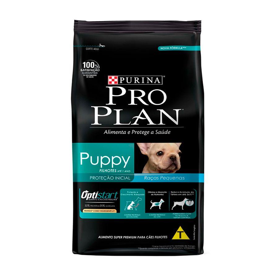 Ração Pro Plan Nestlé Purina para Cães Filhotes Raças Pequenas sabor Frango e Arroz 1kg