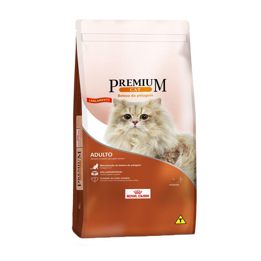Ração Royal Canin Premium Cat para Gatos Adultos Beleza Da Pelagem 10,1kg