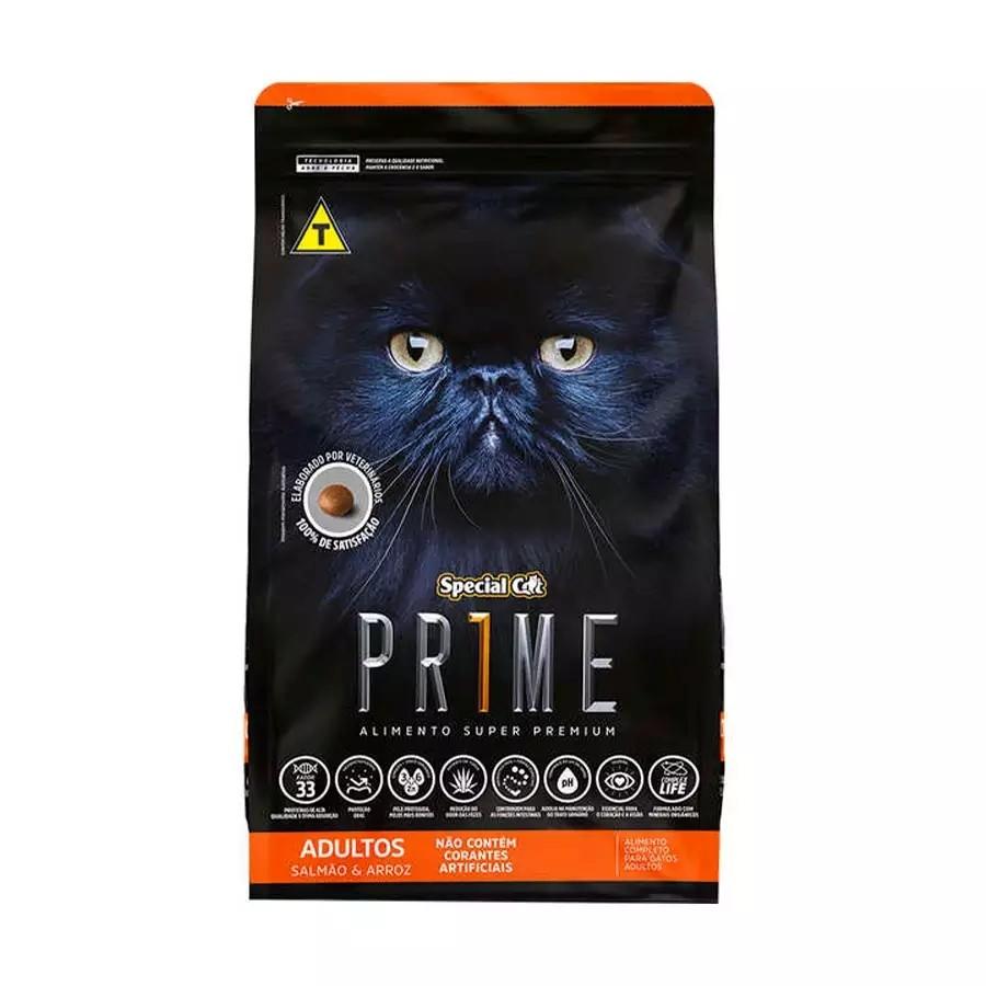 Ração Special Cat Prime para Gatos Adultos Castrados sabor Salmão e Arroz