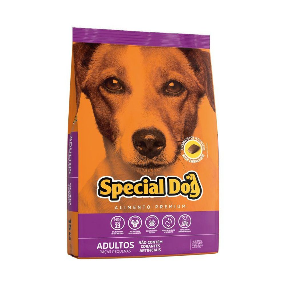 Ração Special Dog para Cães Adultos de Raças Pequenas 3kg