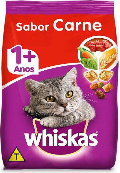 Ração Whiskas Carne Para Gatos Adultos 1kg