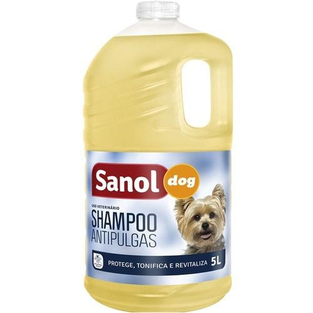 Shampoo Antipulgas Sanol Dog para Cães 5 Litros