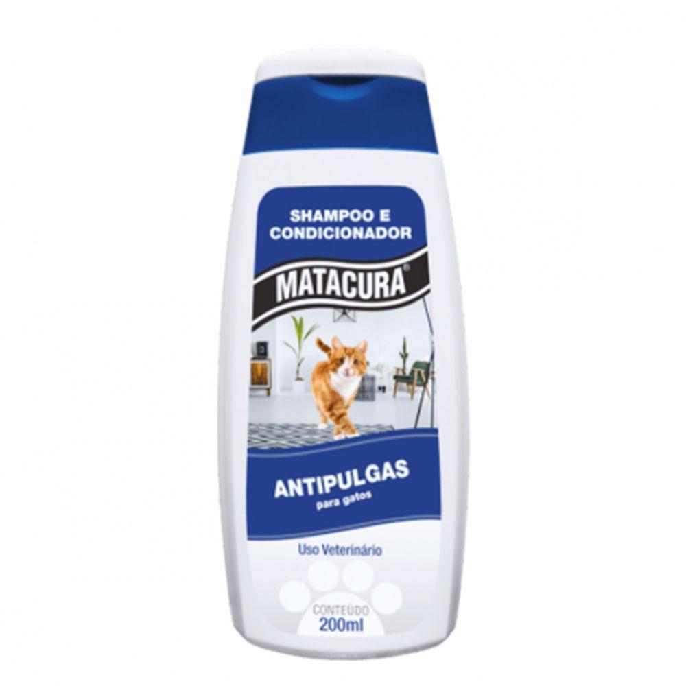 Shampoo e Condicionador Antipulgas para Gatos Matacura 200ml
