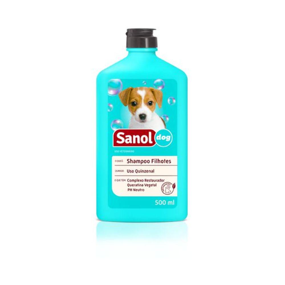 Shampoo Sanol Dog Cães Filhotes 500ml