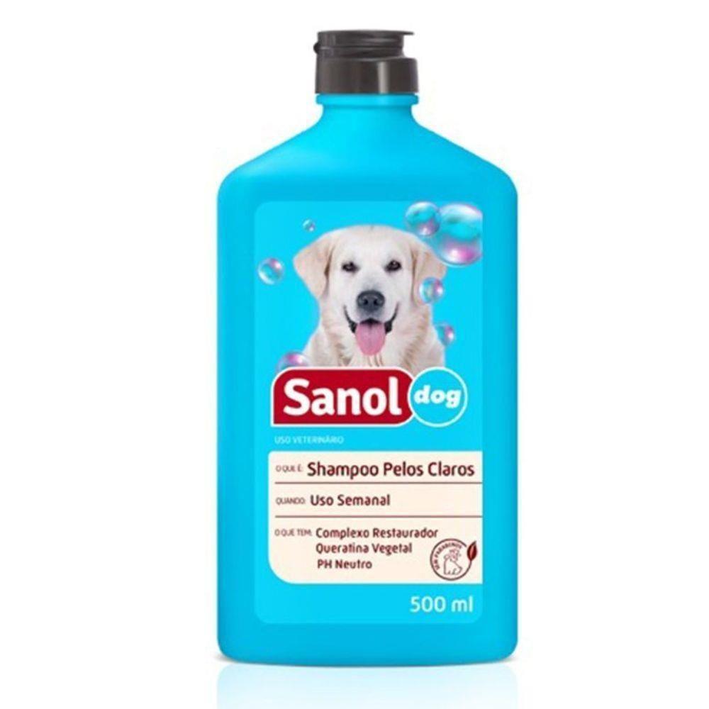 Shampoo Sanol Dog Para Pelos Claros 500ml