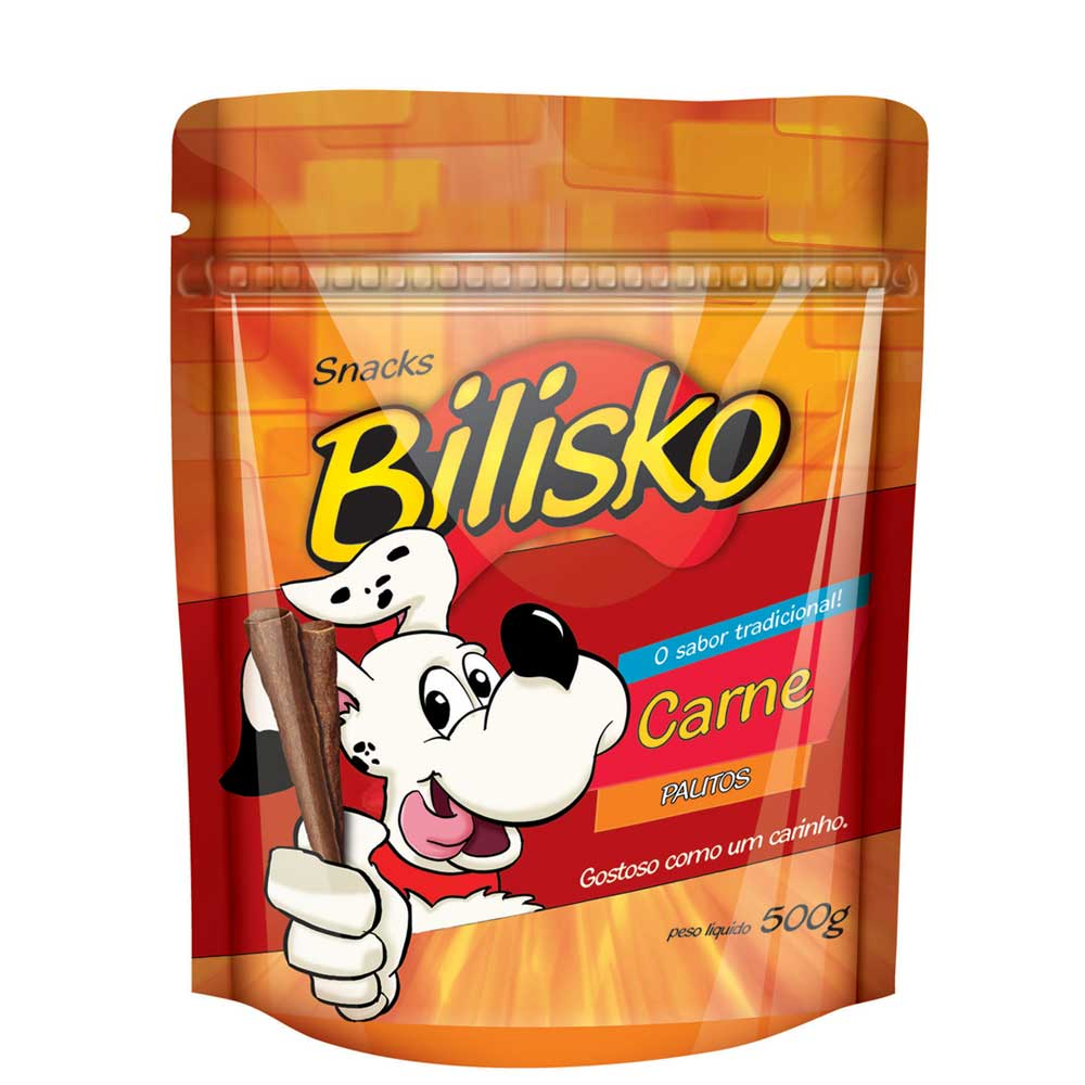 Snacks Bilisko Palitos Finos sabor Carne para Cães 500g