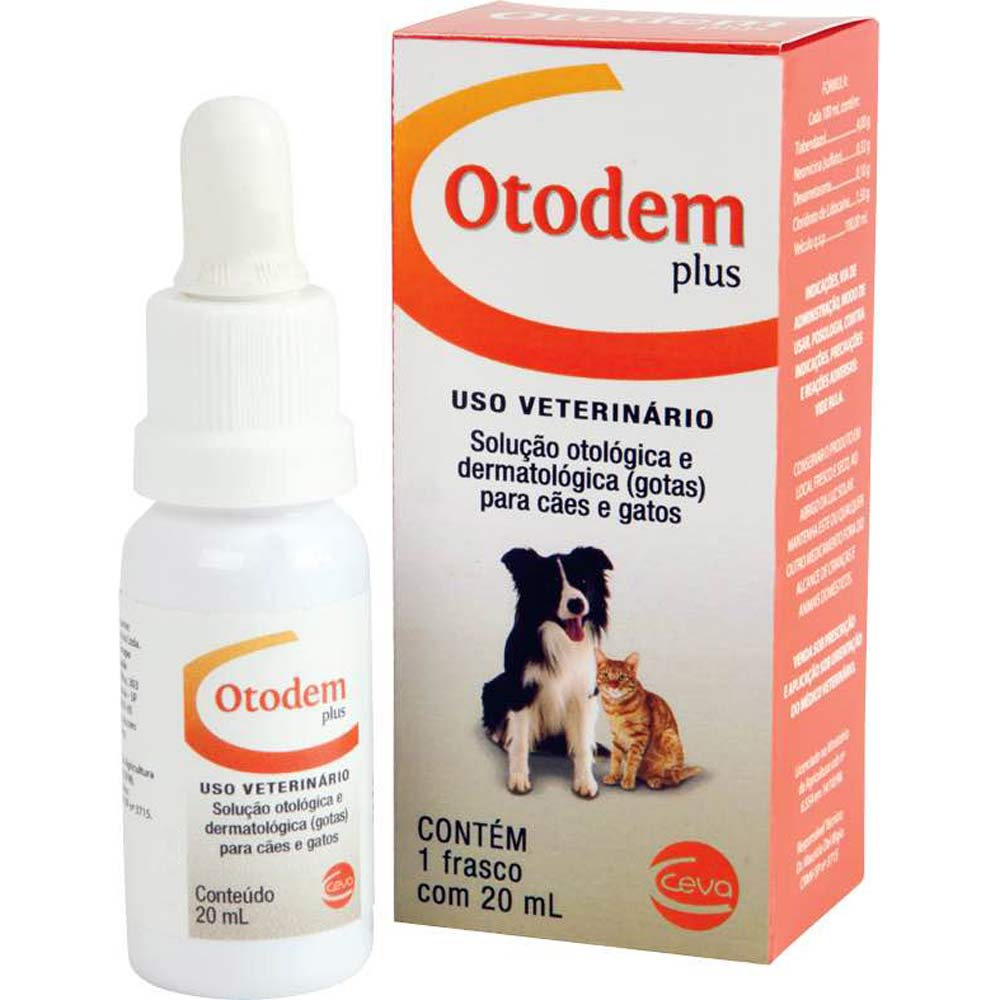 Solução Otológica e Dermatológica Ceva Otodem Plus 20ml