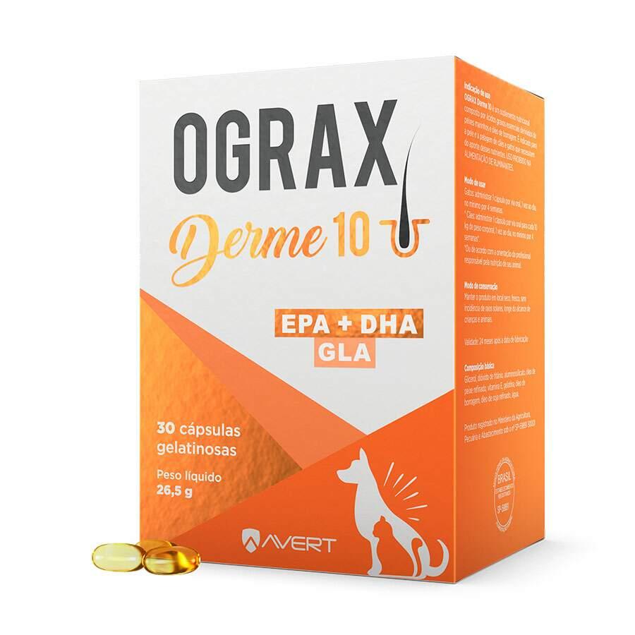 Suplemento Avert Ograx Derme 10 - com 30 Capsulas