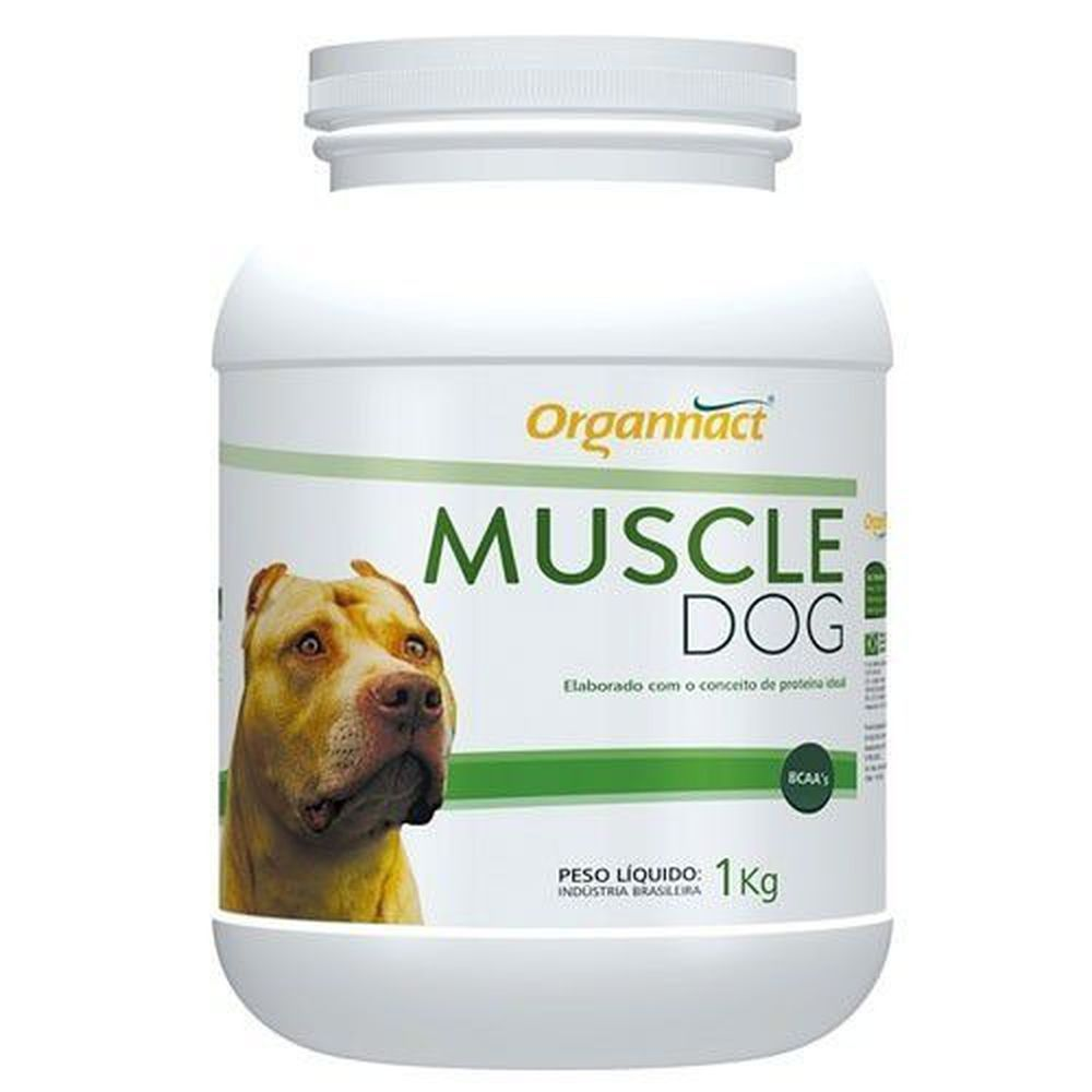 Suplemento Muscle Dog Massa Muscular Organnact - Grande 1kg
