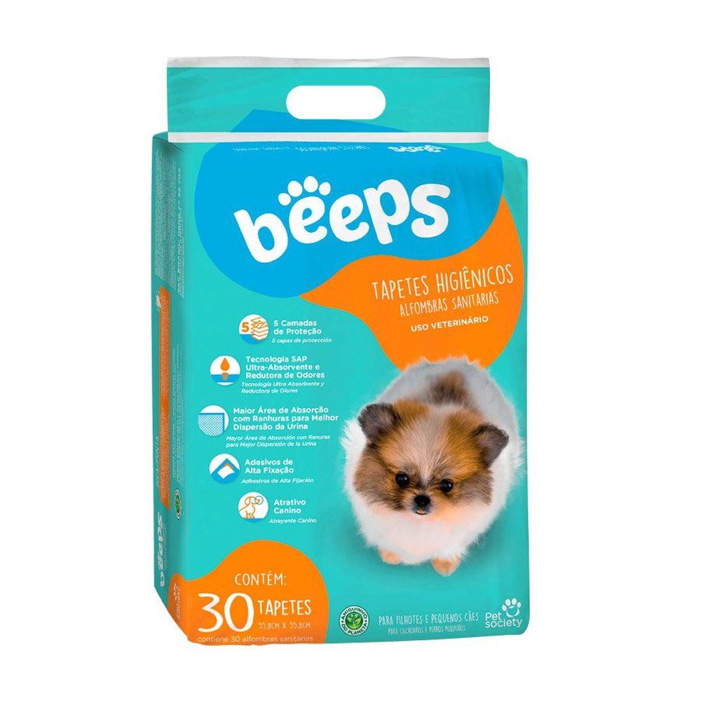 Tapete Higiênico Beeps Pet Society 55,8 X 55,8cm - 30 Unidades