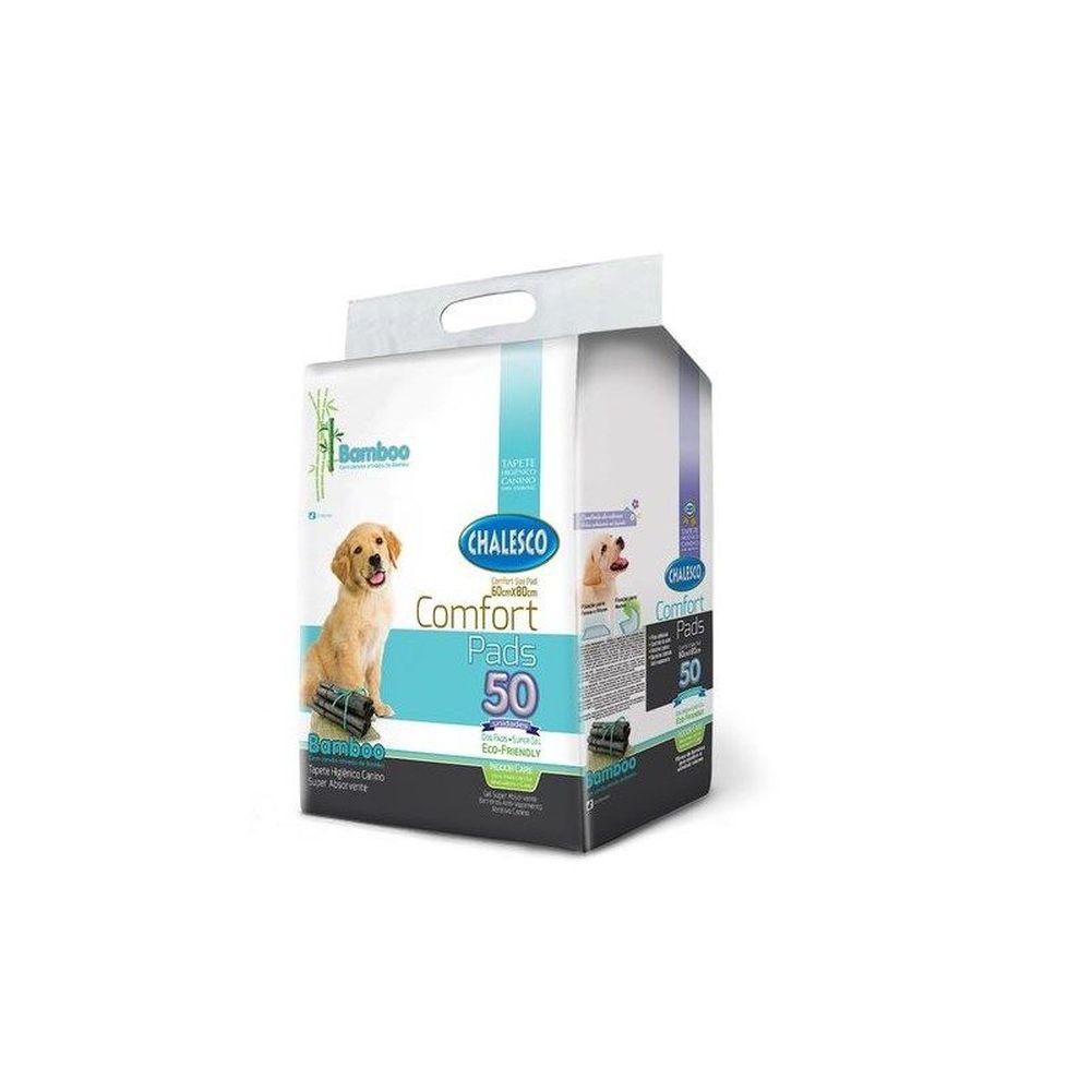 Tapete Higiênico De Bamboo Chalesco Para Cães - 50 Unidades