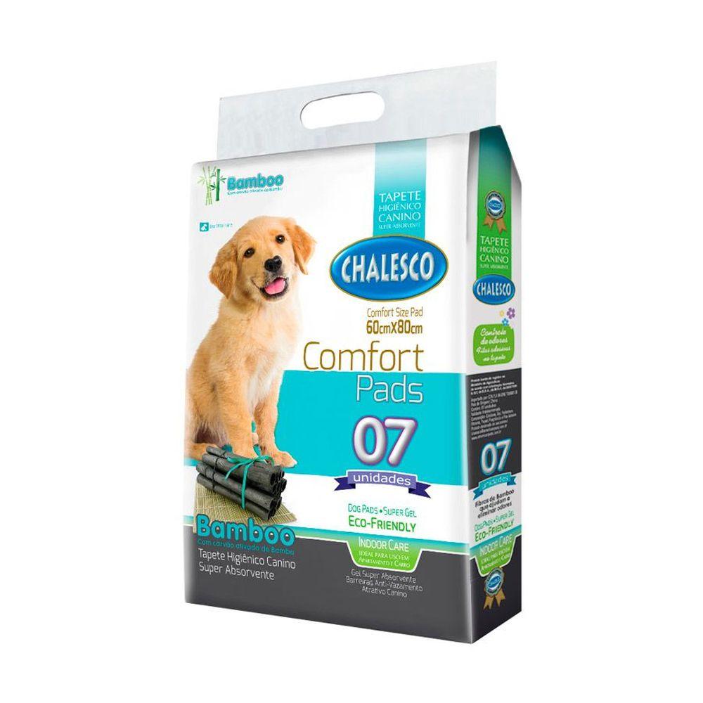 Tapete Higiênico De Bamboo Chalesco Para Cães - 7 Unidades