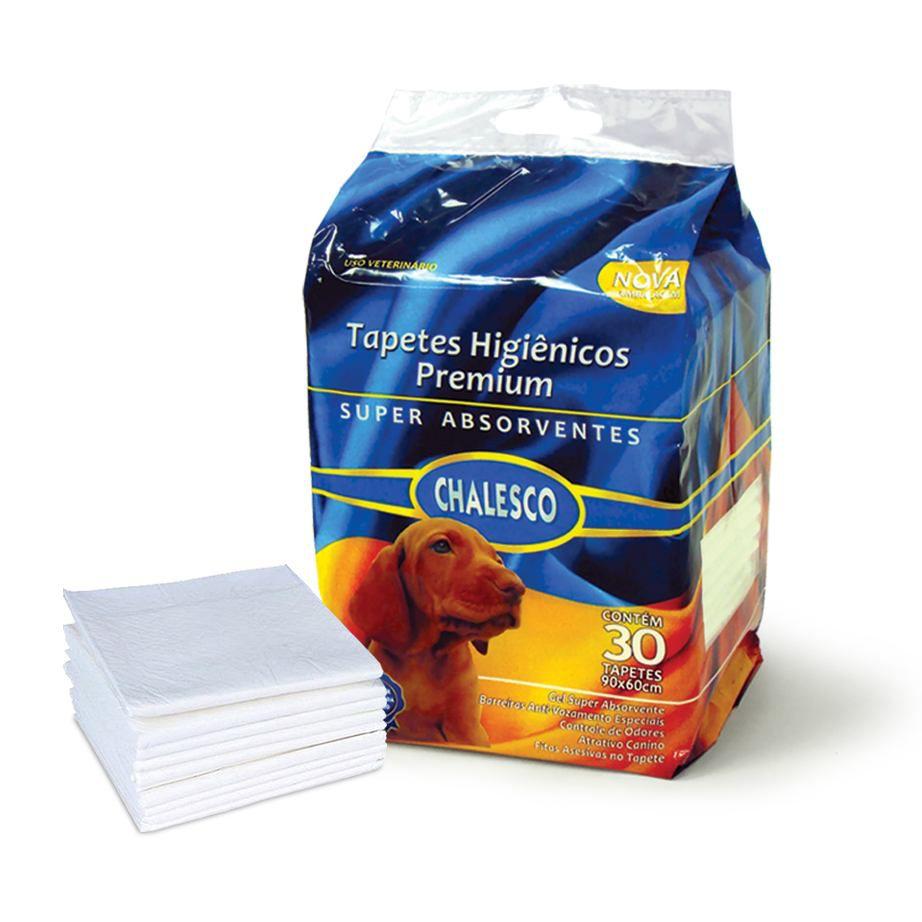 Tapete Higienico Para Cães Chalesco Com 30 Unidades