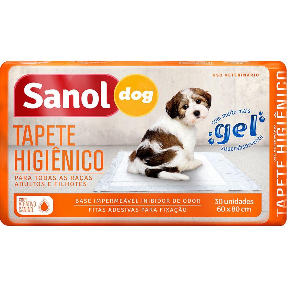 Tapete Higiênico Sanol Dog Com 30 Unidades - 60x80cm