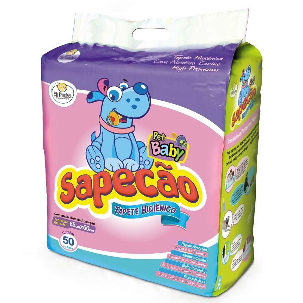 Tapete Higiênico Sapecão Baby São Francisco 50 Unidades