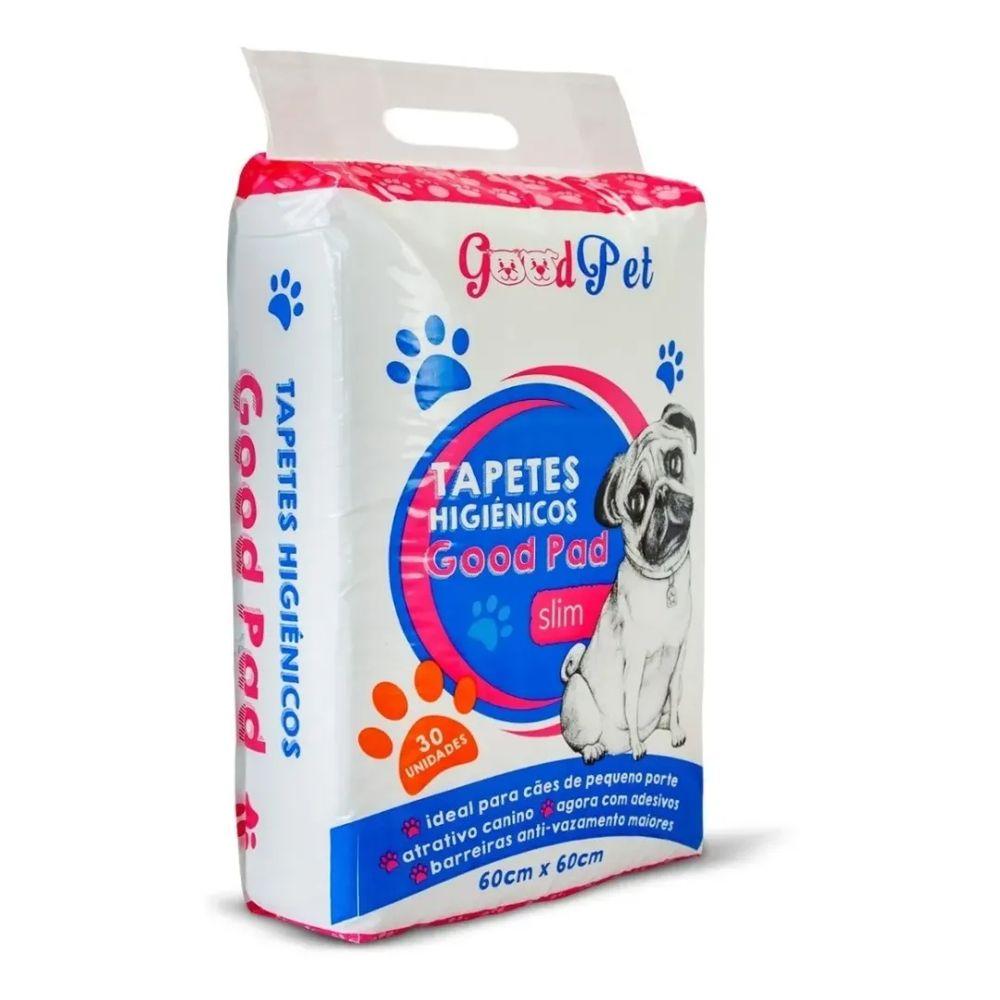 Tapete Higiênico Super Absorvente Good Pad Para Cães 60x60cm Com 30 Unidades