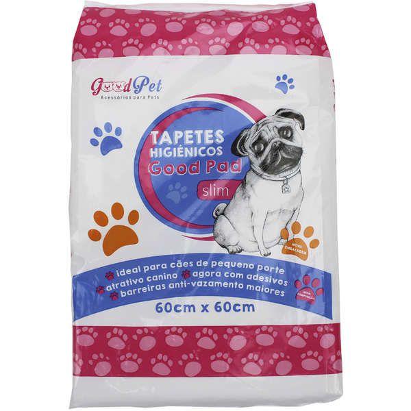Tapete Higiênico Super Absorvente Good Pad Para Cães 60x60cm Com 50 Unidades