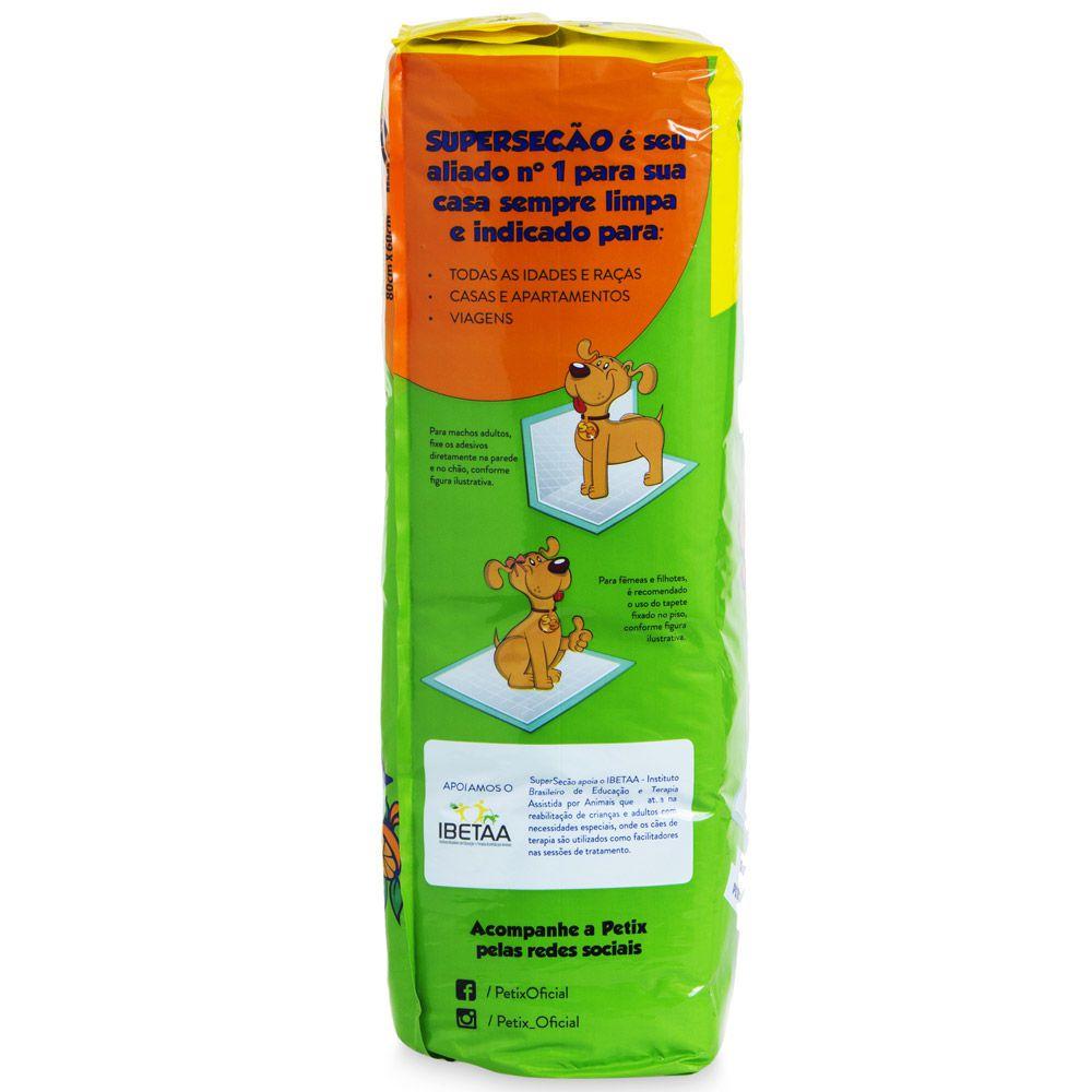 Tapete Higiênico Super Secão Citrus Para Caes Com 30 Unidade