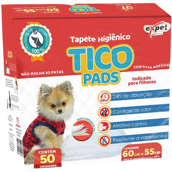 Tapete Higiênico Tico Pads Expet para Cães 50 un.