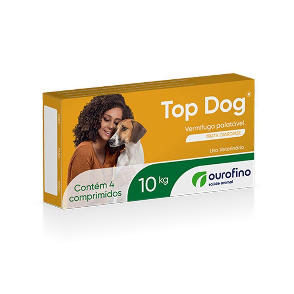 Vermifugo Top Dog Ourofino Para Cães Até 10kg - 4 Comprimidos