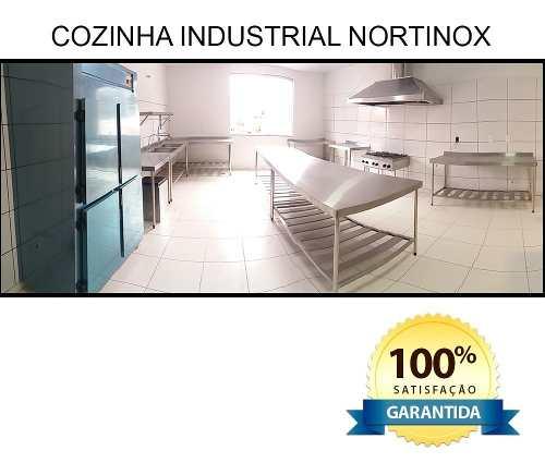 Mesa Aço Inox Profissional 190x60x90 cm com Espelho Nortinox