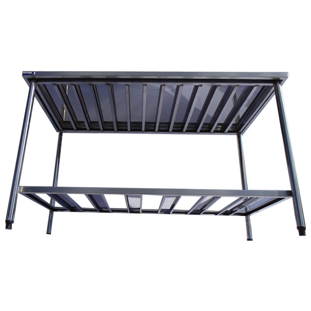 Mesa Aço Inox Industrial Premium 1,90x70x90 cm Nortinox
